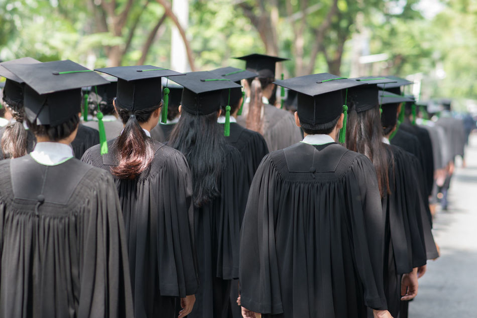 Beautiful stock photos of abschluss, in a row, real people, graduation, university
