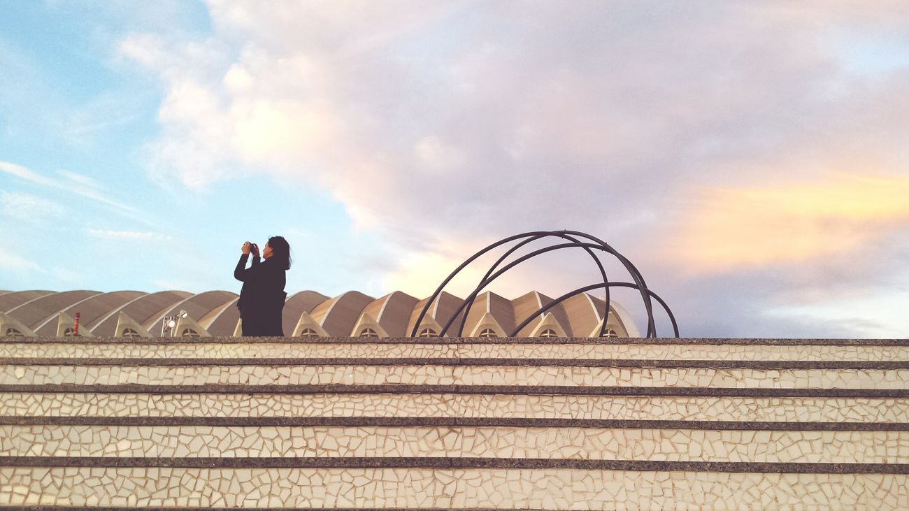 Architectural Detail Taking Photos Of People Taking Photos City Life Walking Around Sky And Clouds Sky And City Clouds And Sky Pastel Power Valencia, Spain Samsung Galaxy S4 Modern Architecture