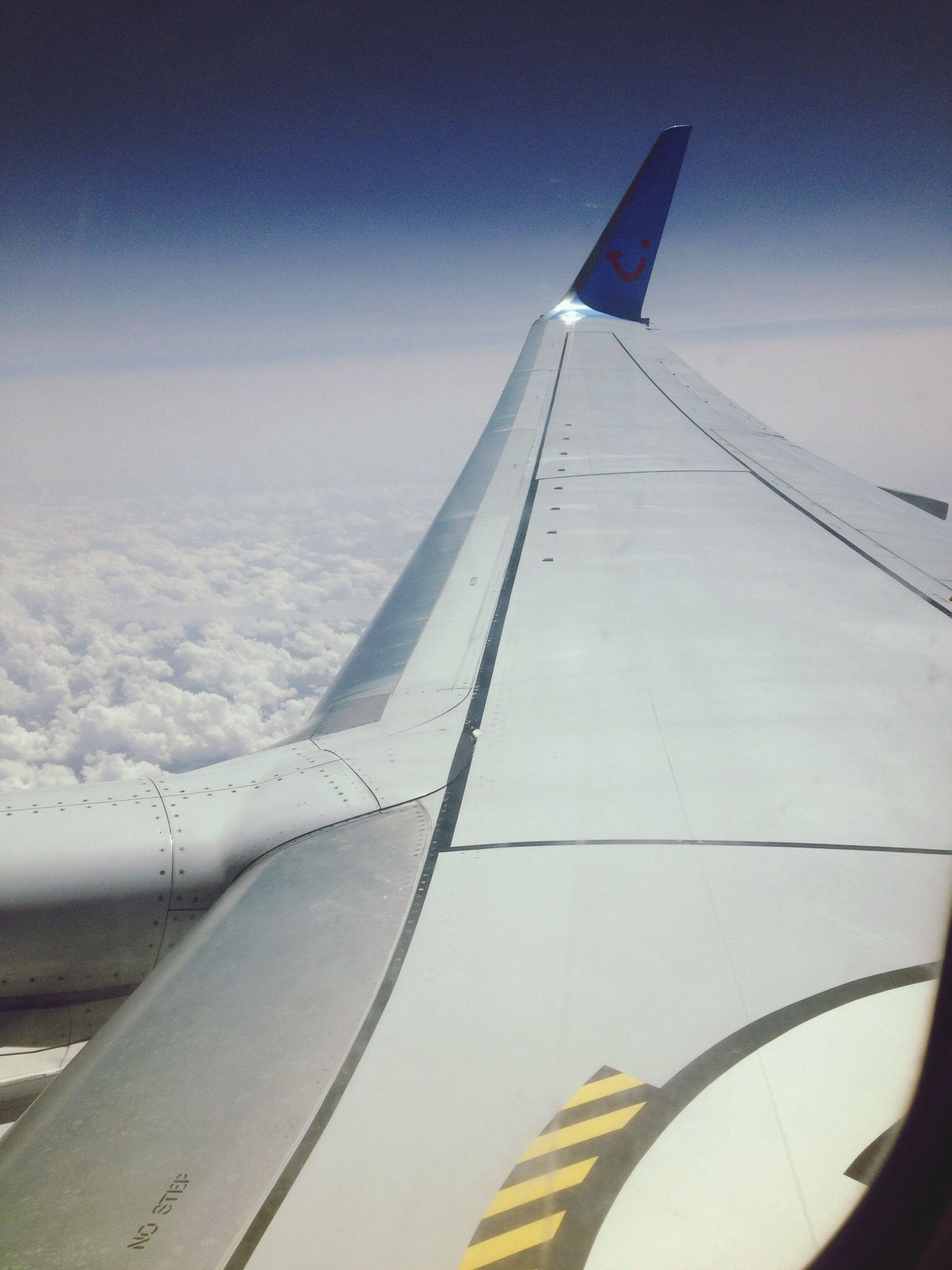 Airplane Flying Clouds Hello World