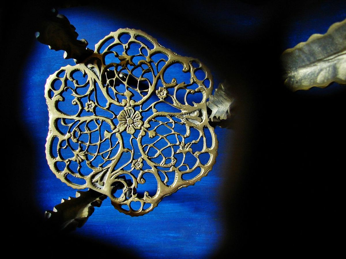Blue Brass Furniture Close-up Day Design Object Illuminated Indoors  Interior Decorating Low Angle View No People