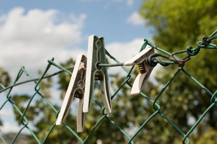 Day No People Outdoors Sky Nature Close-up Wire Fence Clothes Peg The Week On EyeEm