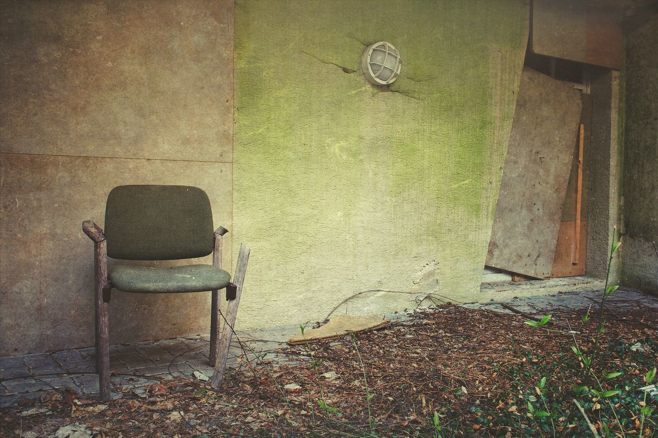 Chair Abandoned Indoors  Empty No People Architecture Built Structure Day Hospital Lost Lost Places Lostplaces Vintage April Showcase