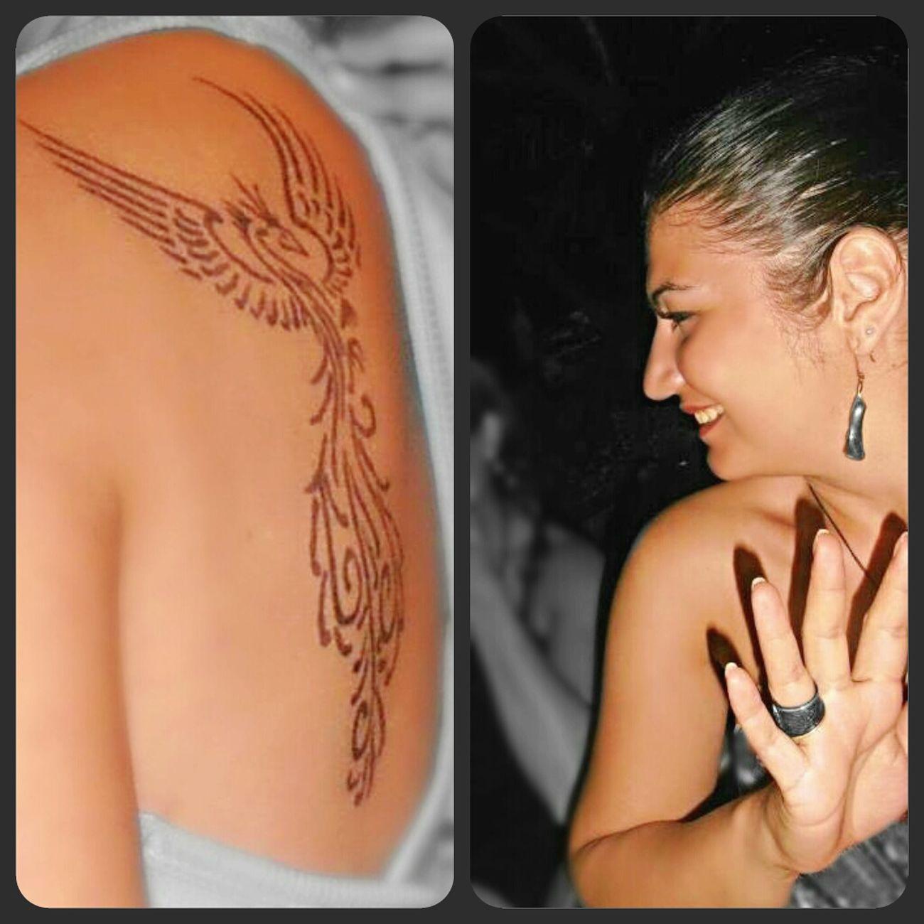 Izmir Cesme Geçici Dövme Anka Kuşu Güzel Bir Tatil