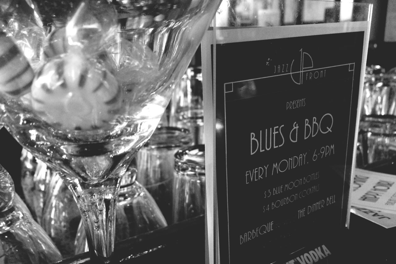 Jazz Club Bar Blues BBQ Martini Glass Blackandwhite Hidden Gems  Unique little night spot with live jazz and blues, a salsa dancing night, and a stand up comedy night. There's nothing remotely like this within a 150 mile radius.