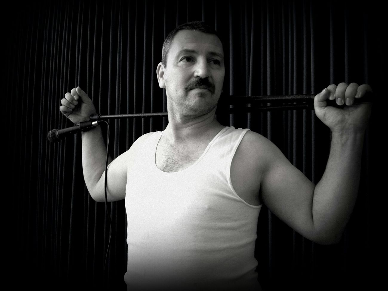 B&W Portrait 1970's Freddymercury Movember Moustache Blackandwhite My Man My Mo For Movember