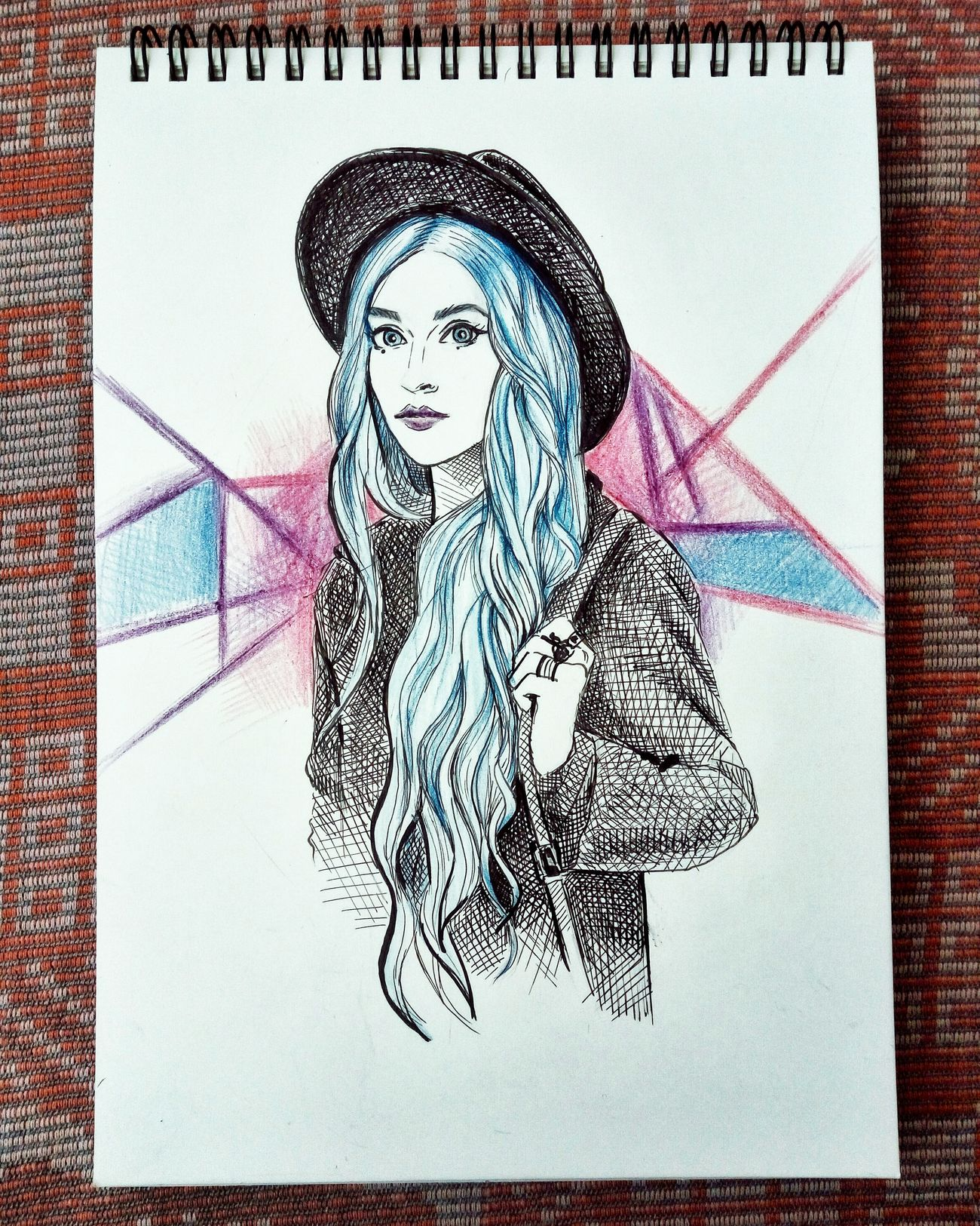 Quicksketch Sketchbook Fashionillustration Graphics Pen Drawing Colored Pencil