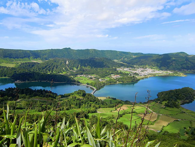 Azores Açores Day Island Lake Landscape Mountain Nature No People Outdoors Reflection Scenics Sky Tree Water