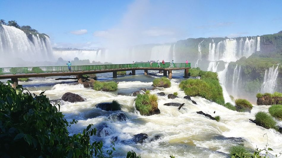 Watery Iguazu Falls Falls Nature_collection Nature Photography Brazil Waterfall Water Rainforest Mist All Around  Wet