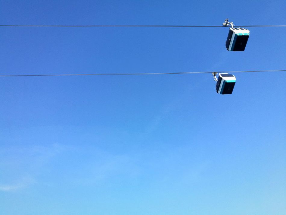 Hello Water Clear Sky Blue Sky Outdoors No People Day Cable Car Meet EyeEmNewHere Lines