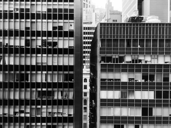 Different Points Of View Pattern, Texture, Shape And Form Another Point Of View Light And Shadow IPhoneography Building Exterior Architecture Hong Kong Architecture Sun And Shadow Black & White Black And White Urban Geometry Black And White Photography