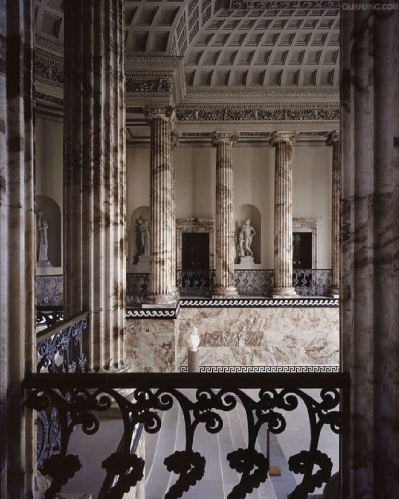 Architectural Column Indoors  Architecture Built Structure Religion Place Of Worship No People Day Holkham Duchess Low Angle View High Angle View View From The Window... Human Representation