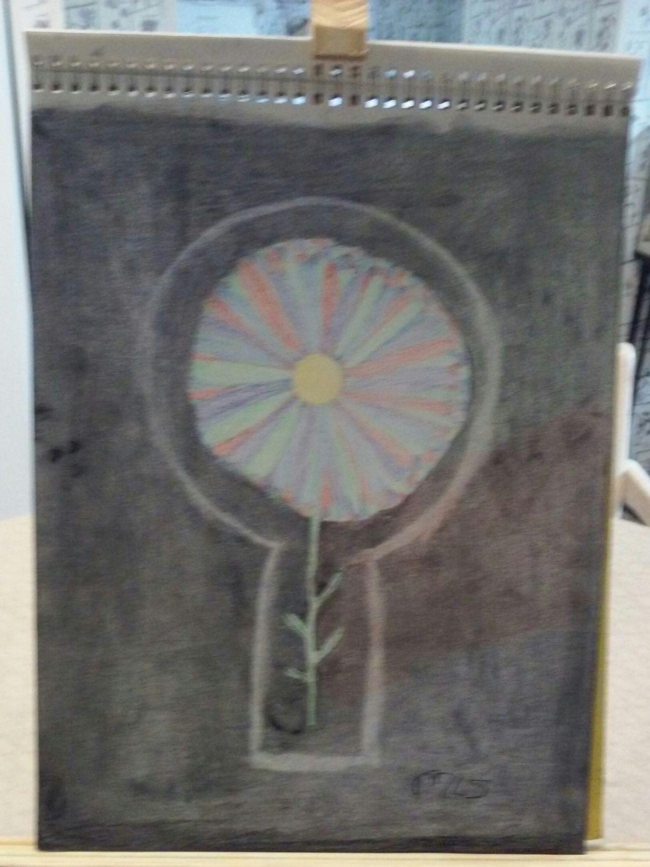 Enjoying Life Art, Drawing, Creativity Charcoal GraphitePencil Colored Pencil