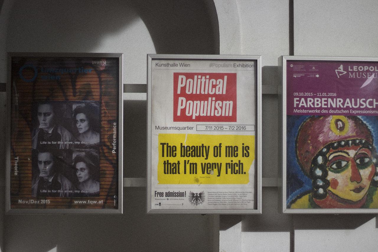 Ads Art Donald Trump Exhibition Museumquartier Urban Vienna Wien