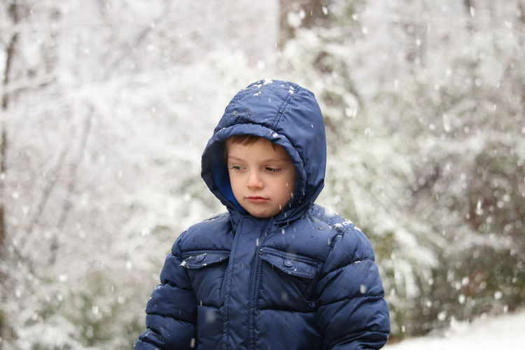 snow in Georgia! EyeEm Selects Child Looking Up At Snow New Experience