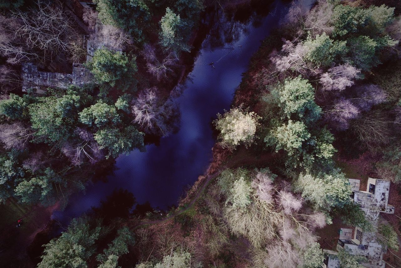 Nature Beauty In Nature Tranquility Outdoors Water Sky Aerial View Tranquil Scene Trees Stream Tree Looking Down Taking Pictures Nature_collection EyeEm Gallery Eye4photography  Taking Photos Exploring