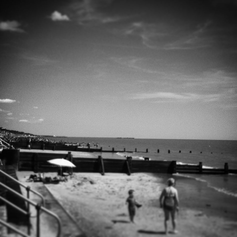 Beach life along the North Sea coast! It's not quite the Med! Beach Photography Beach Essex Blackandwhite Blackandwhite Photography Seaside Coast Summertime Frinton Uk
