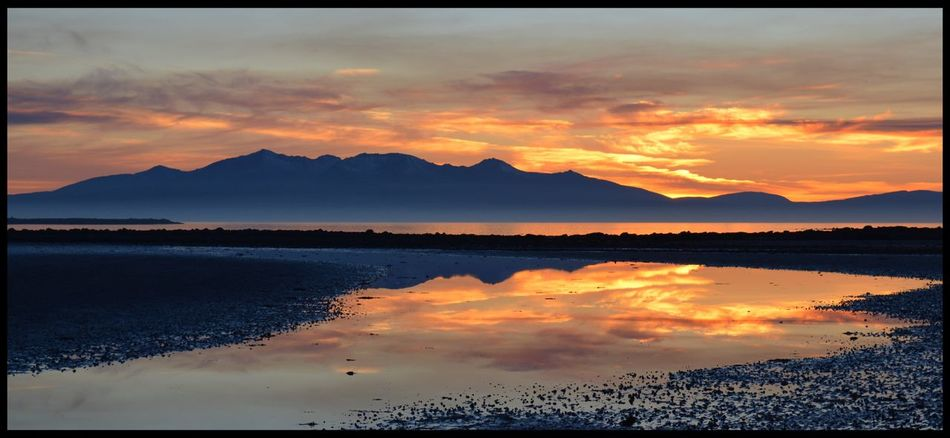 Isle Of Arran  Reflection Sunset Sky Water Beauty In Nature Orange Color Scenics Nature Reflection Tranquil Scene Silhouette No People Mountain Mountain Range Tranquility Outdoors Cloud - Sky Day EyeEm Gallery Eye4photography  Ayrshire, Scotland Eyeemphotography EyeEm EyeEmBestPics