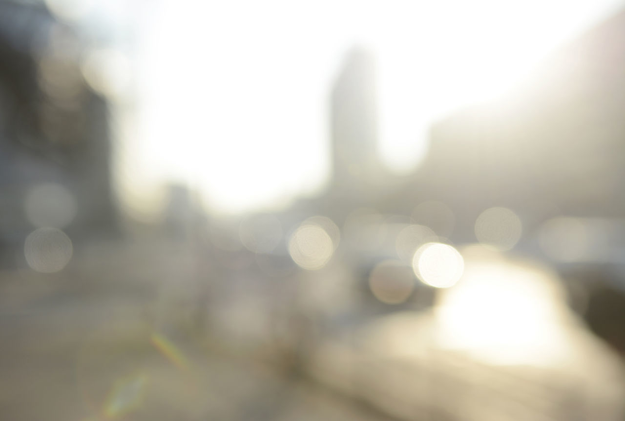defocused, sun, sky, outdoors, nature, no people, sunlight, day, beauty in nature, close-up, city