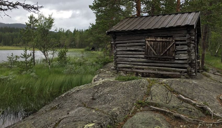Architecture Building Exterior Built Structure Cottage Countryside Day Forest Grass Log Log Cabin Nature Non Urban Scene Non-urban Scene Outdoors Rural Scene Scenics Sky Tranquil Scene Tranquility Tree Water Wood Wood - Material Wooden
