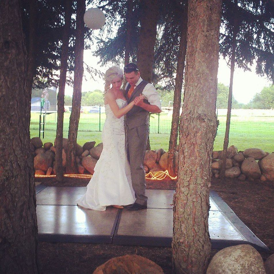 Look at these two love birds! Beautiful wedding last night Mattandcorinaswedding