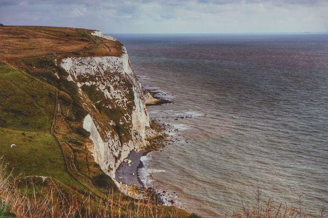 White Cliffs  Sea Beauty In Nature Cliff Scenics Idyllic