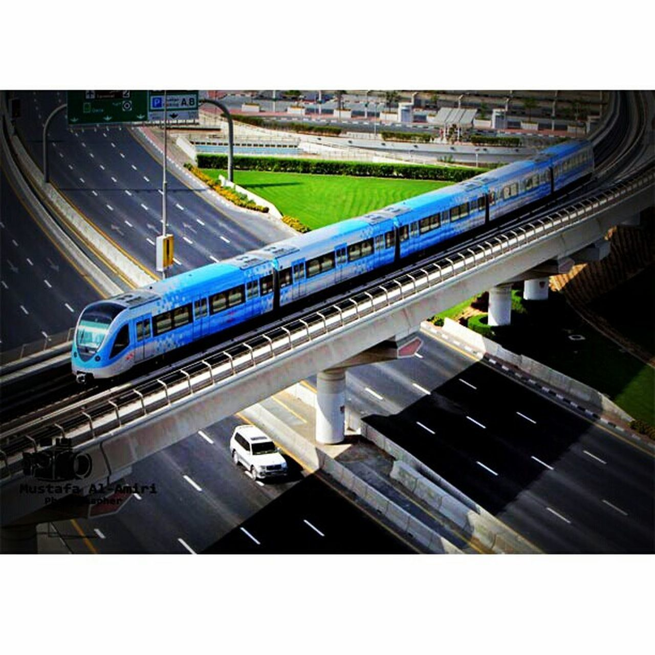 transportation, architecture, overpass, city, built structure, bridge - man made structure, high angle view, road, no people, motion, outdoors, day
