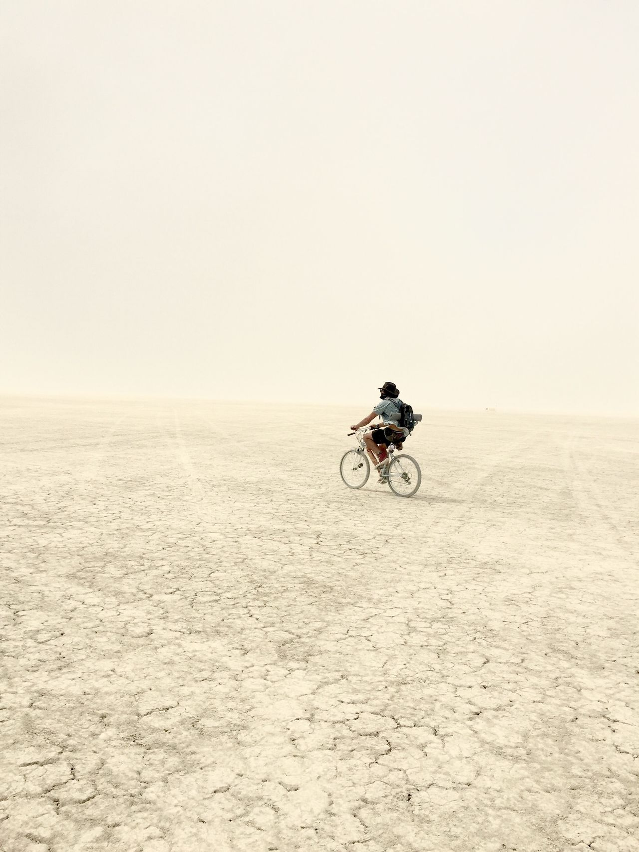 Riding solo, where I'll go only I will know One Person Clear Sky Outdoors Bicycle Full Length Riding Motorcycle Men One Man Only Day Nature Only Men People (null)Burningman Desert Hot America California Adventure Explore Fresh On Market 2016