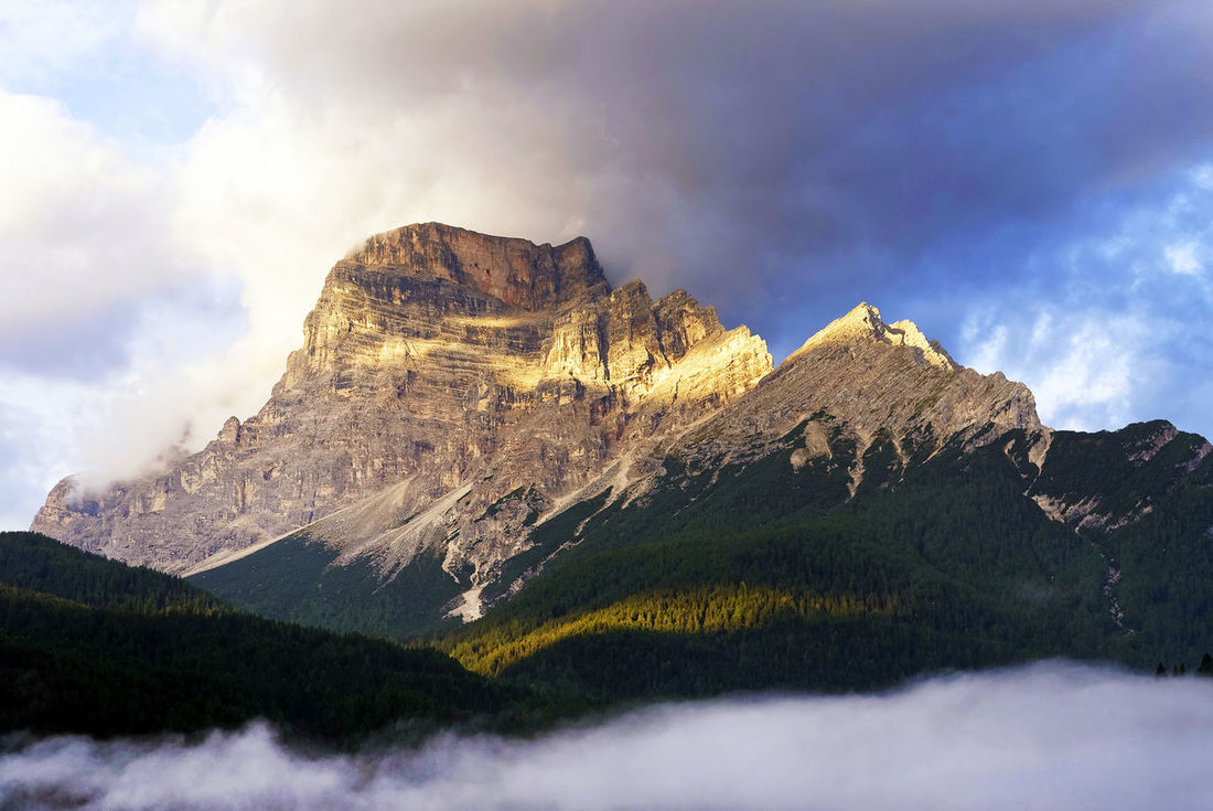 Beauty In Nature Cloud - Sky Clouds And Sky Day Dolomites, Italy Landscape Mountain Mountain Peak Mountain Range Nature No People Outdoors Peak Pelmo Range San Vito Di Cadore Scenics Sky Sunrise Tranquil Scene Tranquility