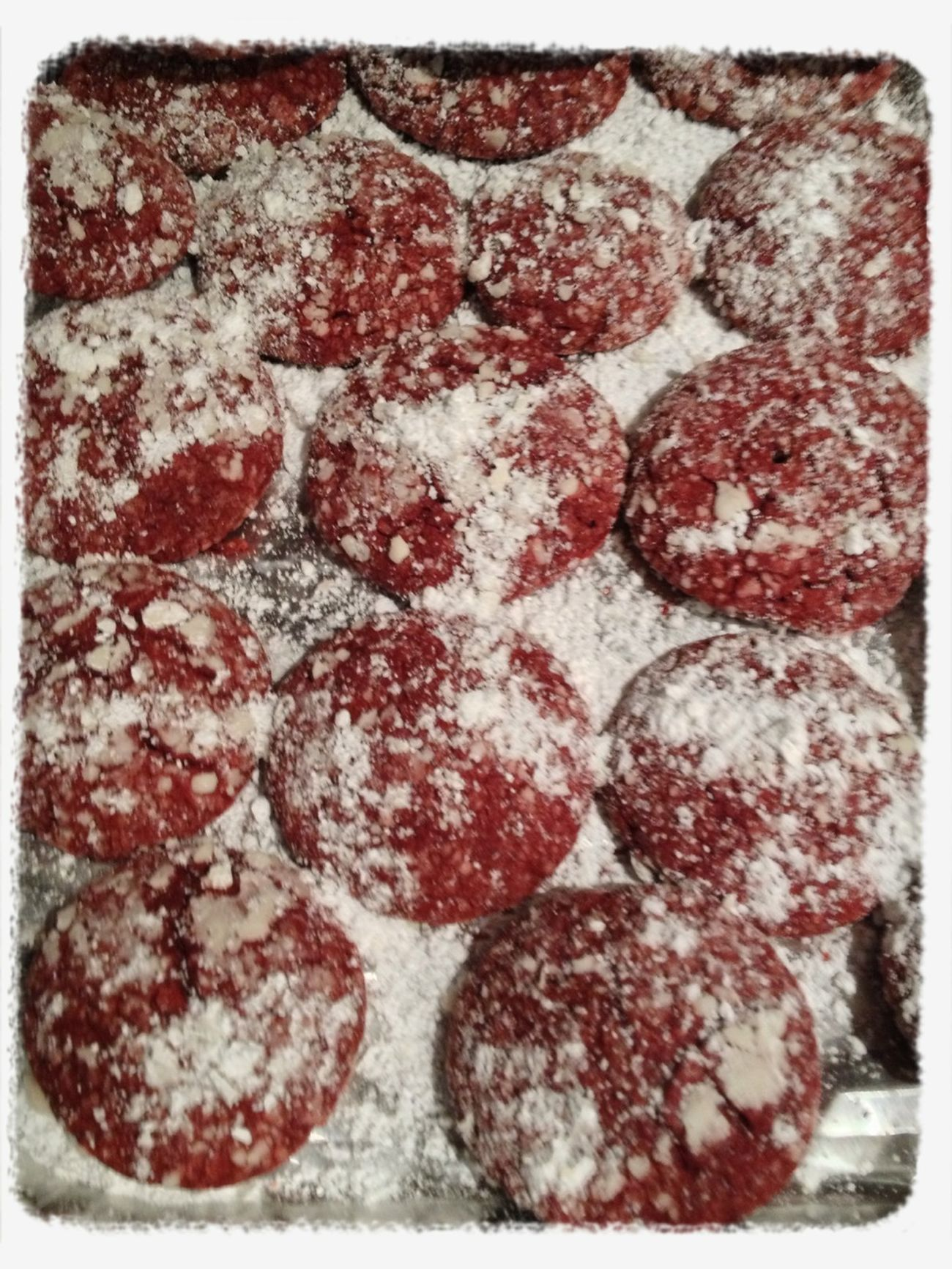My New Experiment Of Making Red Velvet Crinkle Cookies!