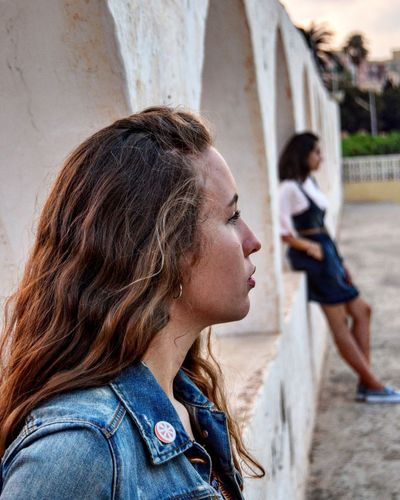 Girls view Side View Focus On Foreground Profile View Long Hair Black Hair Casual Casual Clothing Young Adult Hairstyle Person One Woman Only Transportation Fine Art Photography First Eyeem Photo Animal Themes Animal Head  Close-up Adventure Club Holidayseason The Journey Is The Destination Popular Music Concert Domestic Animals One Animal Animal Head  Group Of People