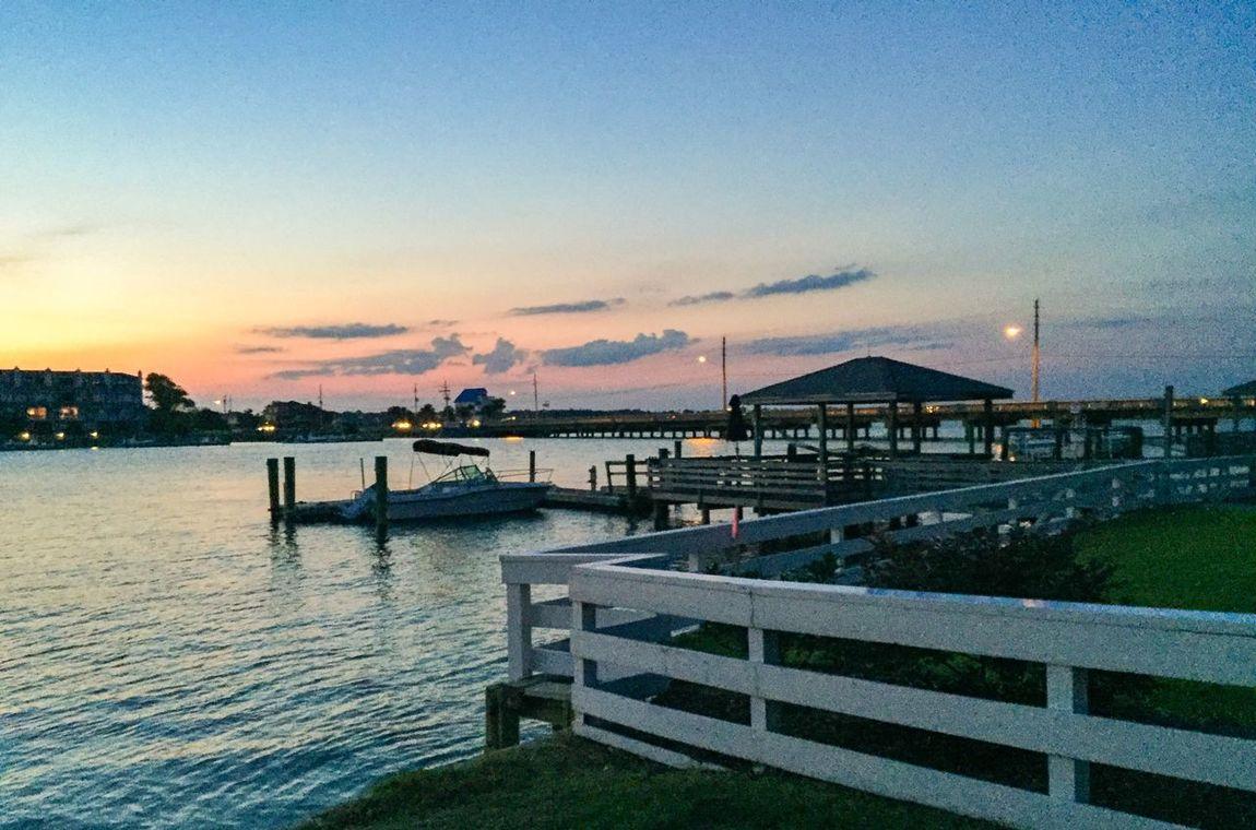 Sundown on the sound. Sundown Sunset Sound Water Dusk