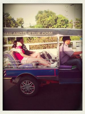 love in a tuk tuk in Bangkok by andrew deRamos