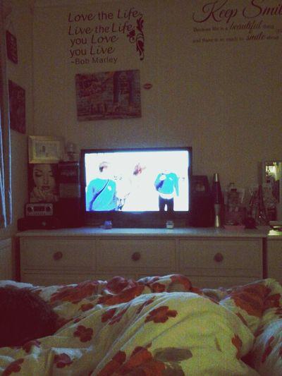 chilled night in watching inbertweeners Relaxing
