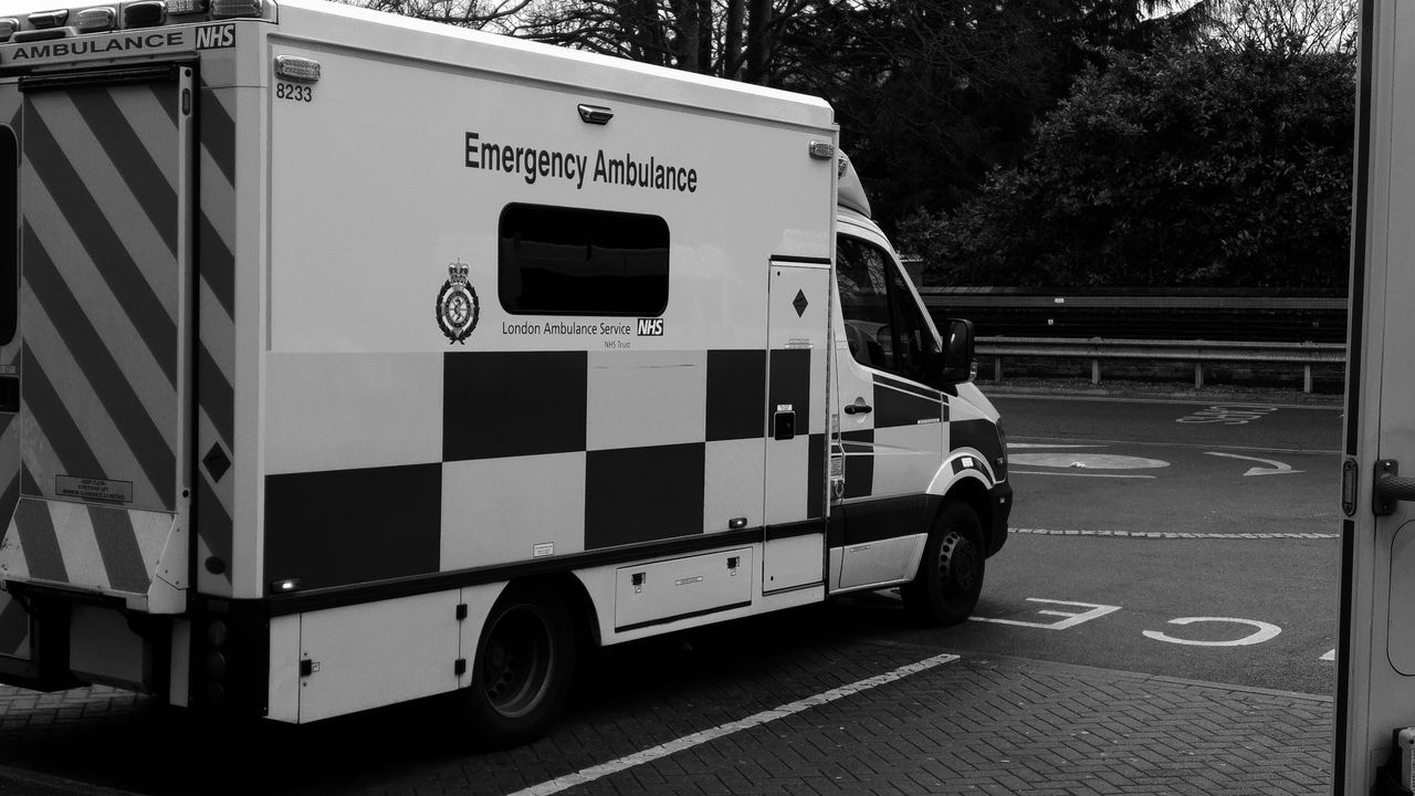 What I Do  Ambulance My Office Working Hard London Ambulance Service Black And White Emergency Vehicle Rainy Day Occupation Mercedes