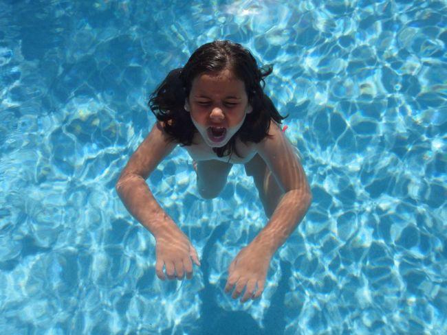 Everyday Emotion Water Clear Water Having A Bath Child Original Experiences Natural Portrait Natural Light Portrait True Blue