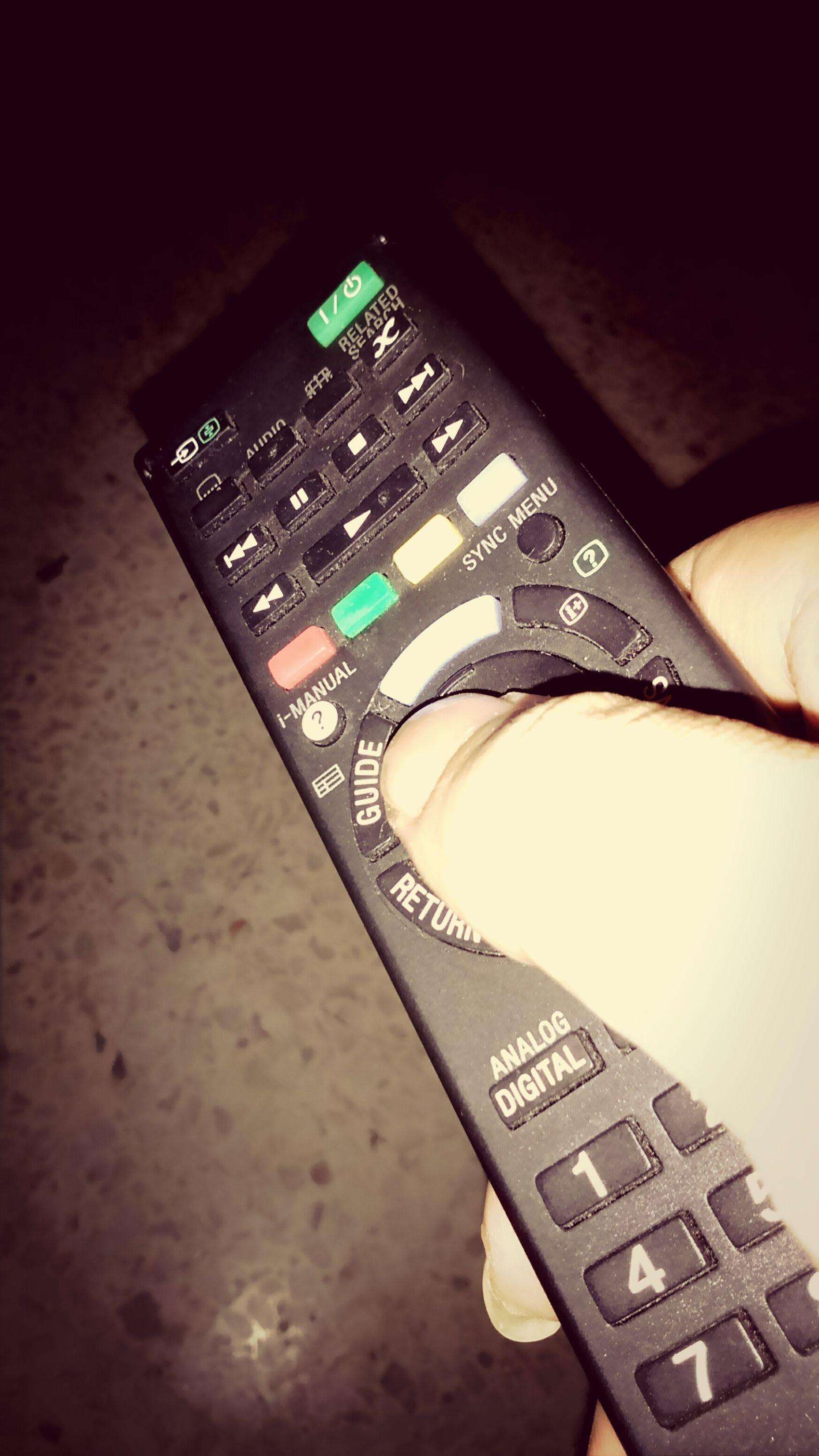 Watching tv. Relaxing