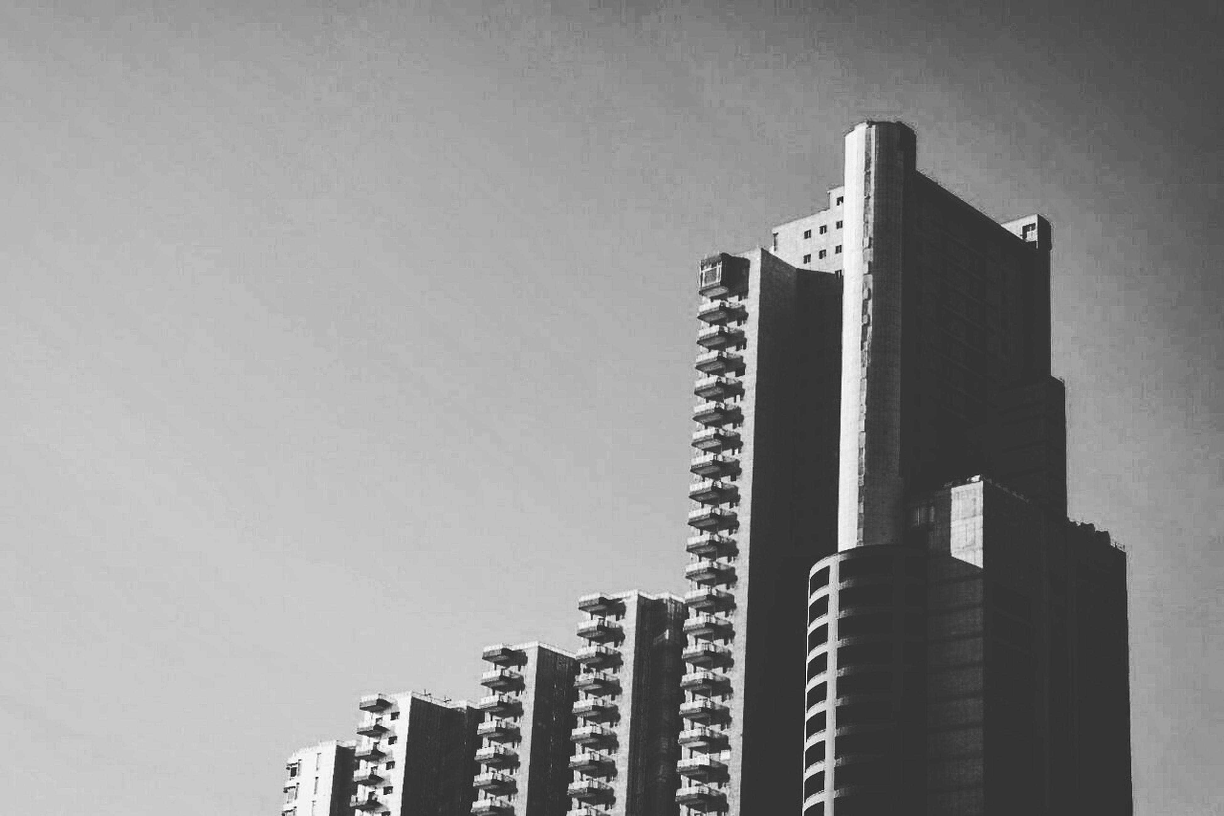 built structure, architecture, skyscraper, building exterior, no people, city, low angle view, modern, day, apartment, outdoors