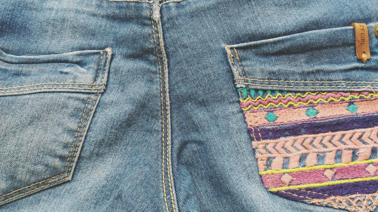 Textile Jeans Multi Colored Material Textured  Fabric Backgrounds Full Frame Blue Clothes Blue Pants  Pants Blue Jeans Textured  Blue Pants  Jeans Pattern Close-up No People Blue Pants  High Angle View