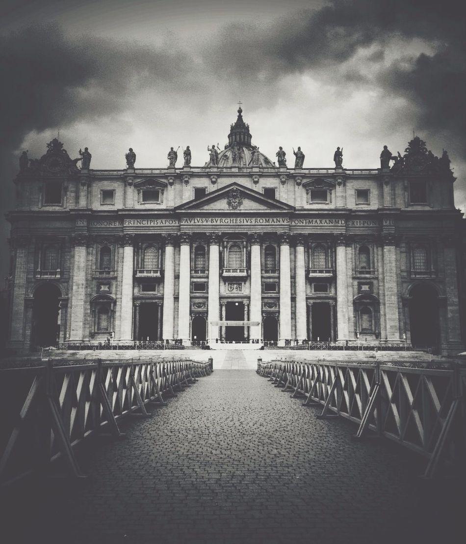 St.Peter's Basilica Vscocam Blackandwhite Italy Architecture