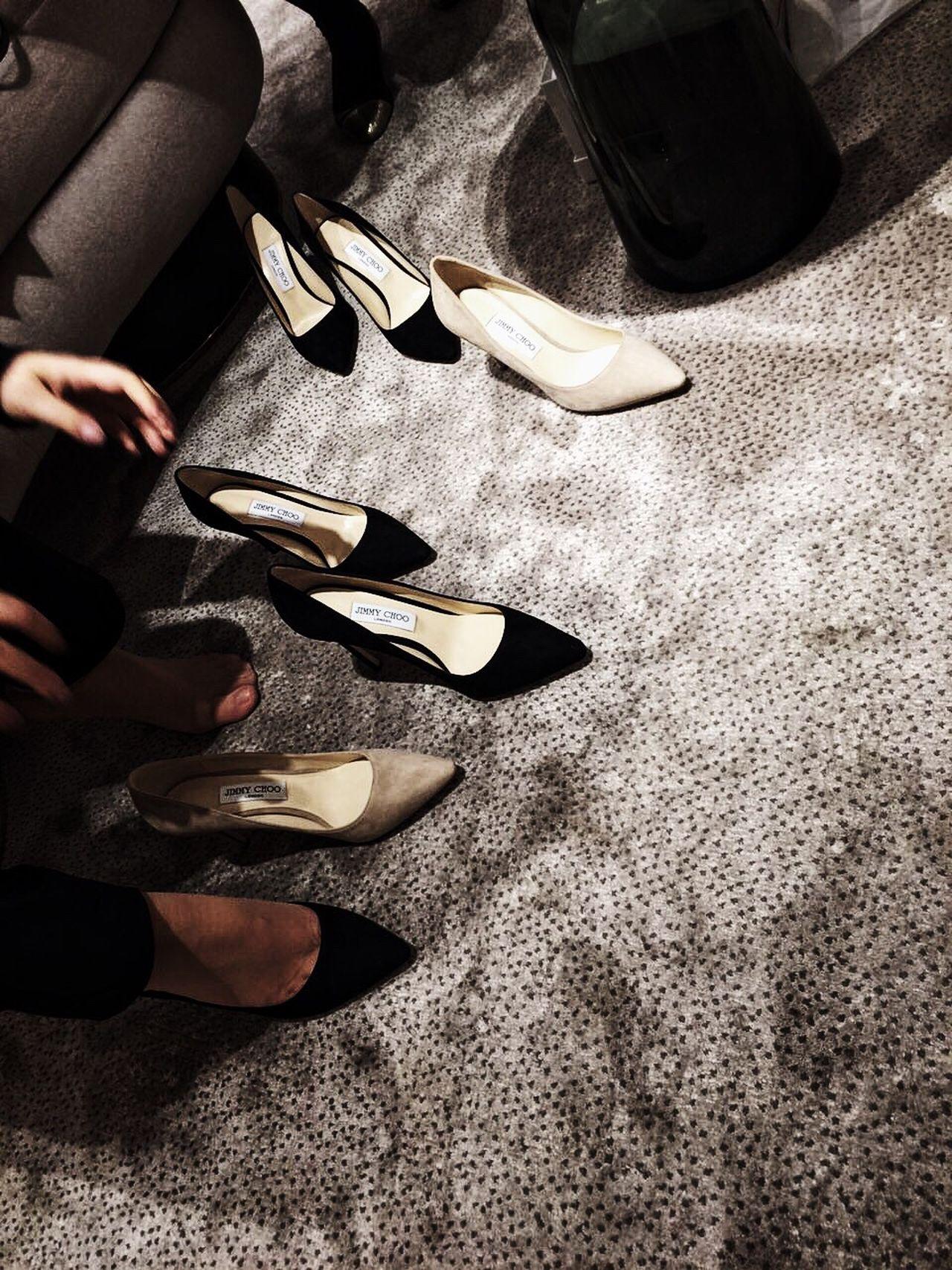 Difficult Choice 🙈 Shoe Fashion High Heels Human Leg Lifestyles Women Jimmychoo