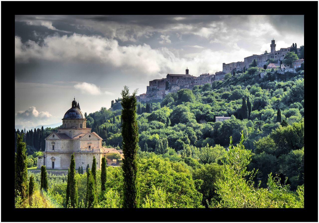 Montepulciano Architecture Sky Building Exterior No People Outdoors Tree Built Structure Nature Landscape Day Mountain Beauty In Nature