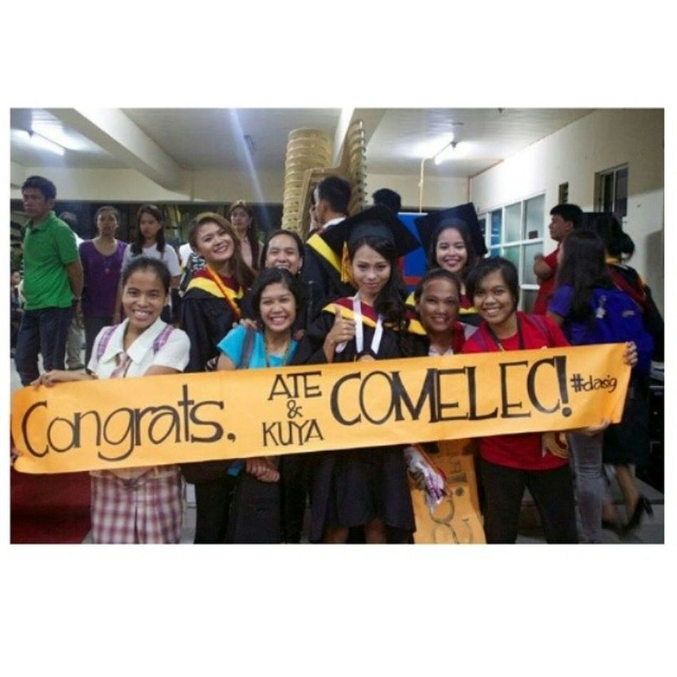 I will forever be greatful to my ' CNU Comelec family Happy Graduate Gradpic Love smile dasig