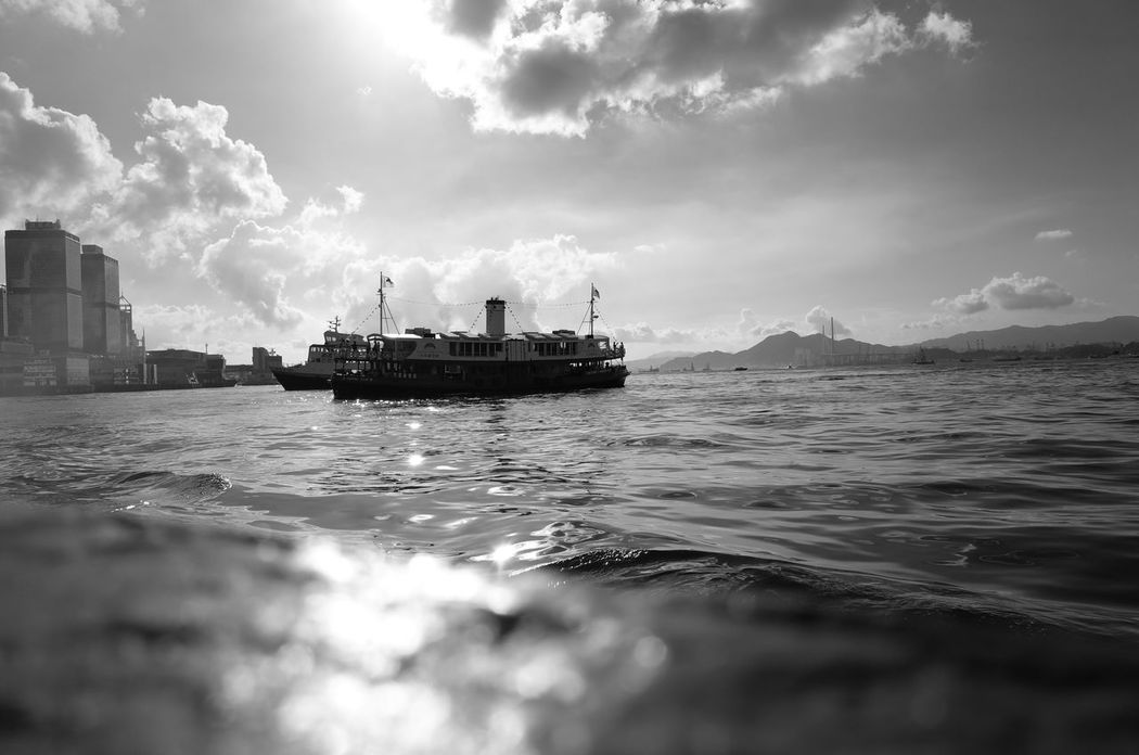 Star Ferry on a sunny afternoon. Starferry Blackandwhite Black And White Photography Ricoh GR II Gr2 Tsim Sha Tsui 尖沙咀 HongKong