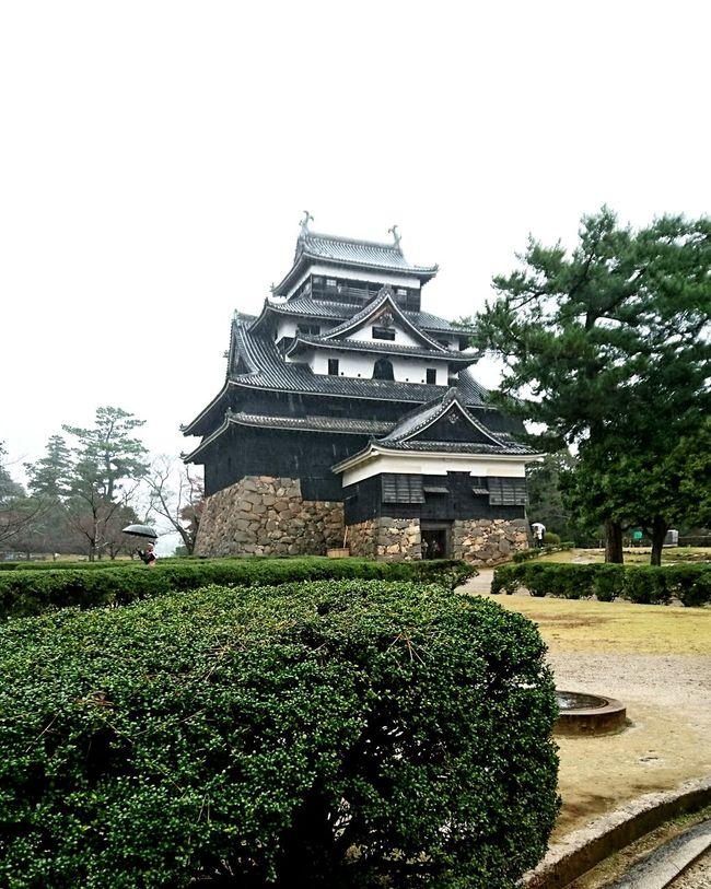 Matsuejo Rainy Day Castle Of Japan