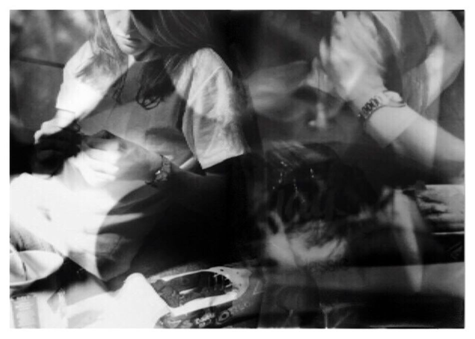 """Compulsions 1. From my series of 12 photos, entitled """"Addictions, Obsessions, Compulsions"""". Shot on Kodak TMax 100 film with my Canon EOS Rebel K2. Compulsions Binge Eating Purging Conceptual Photography  Sandwiched Negatives Double Exposure Conceptual Image Film Photography Story Photography Conceptual Self Portrait Contrast Blackandwhitephotography Inspired By Cindy Sherman Cindy Sherman B&W_collection"""