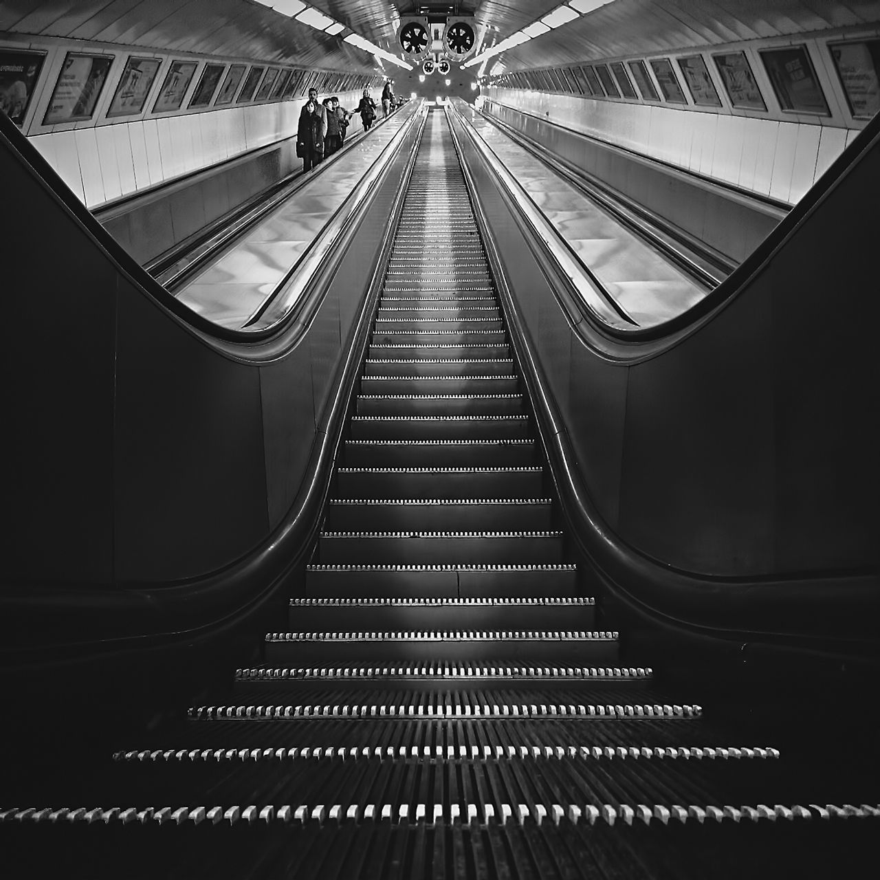""" An escalator can never break: it can only become stairs. You should never see an Escalator Temporarily Out Of Order sign, just Escalator Temporarily Stairs. Sorry for the convenience. "" - Mitch Hedberg Bw_collection EyeEm Best Shots Subway AMPt Community"