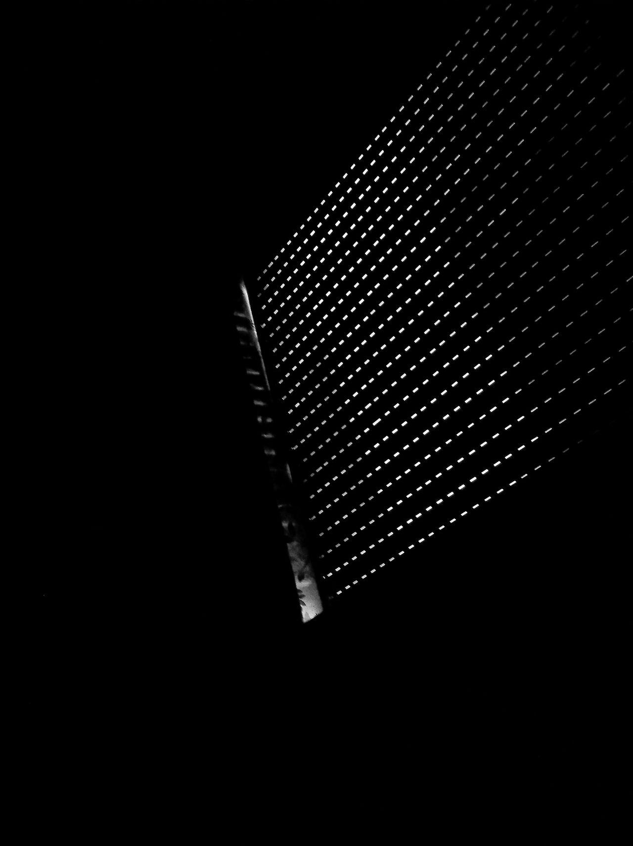 Ouch! The sun is already here ☀ night Low angle view Black Background pixelated Textured window Light light and shadow Blackout blackandwhite monochrome Shades Of Grey black vs white contrast MnM MnMl mnmlsm minimalism minimal minimalistic vampire Time to sleep minimalobsession minimalart