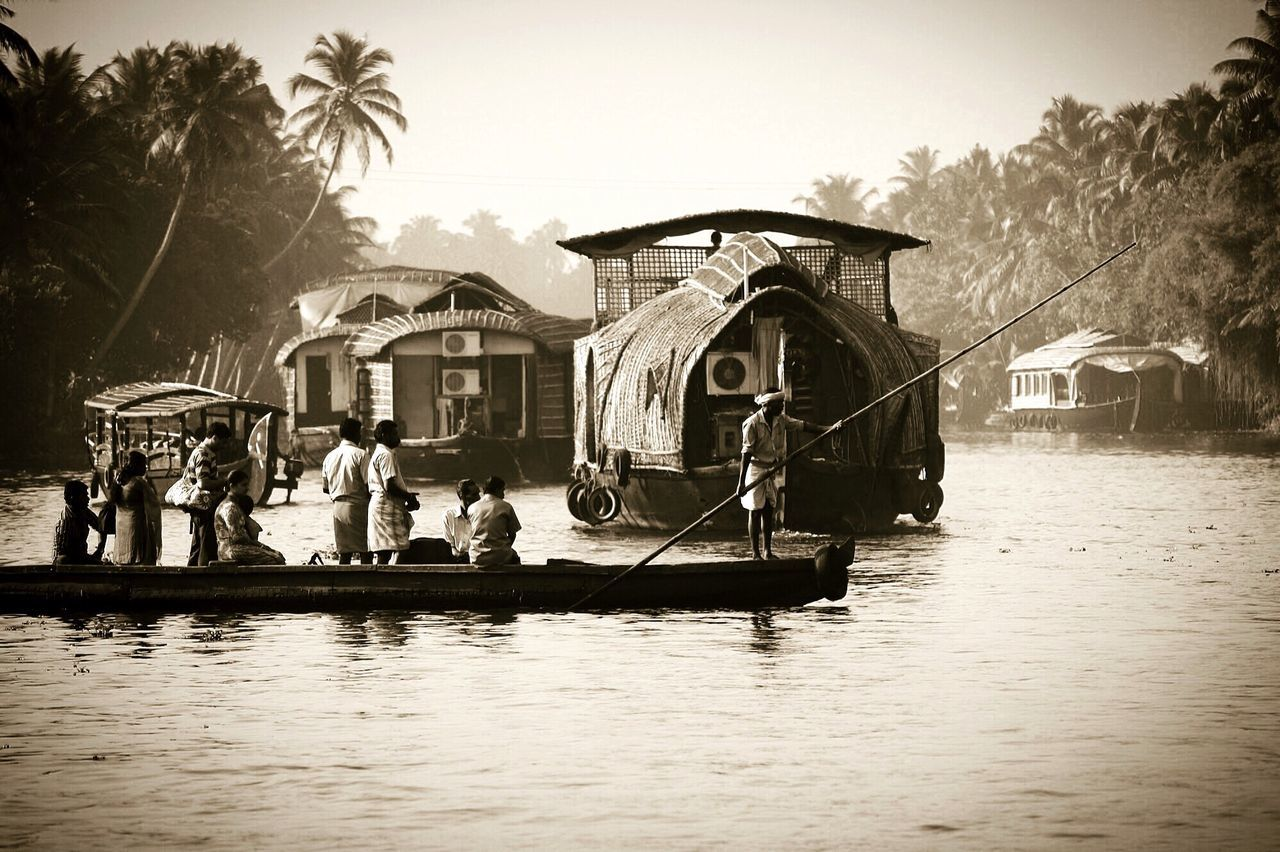 Check This Out Travel Photography Traveling People Watching People Indianlife Fortheloveofblackandwhite Monochrome Blackandwhite Silhouette Light And Shadow Blackandwhiteoftheday From My Point Of View Naturelovers Indian Life Water Reflections Kerala India Boatlife Exploring