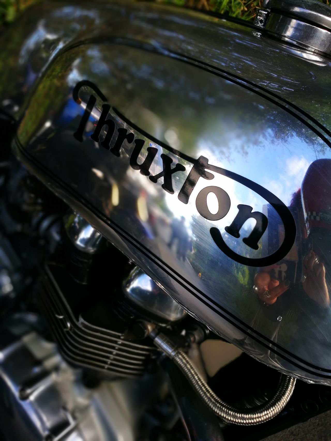 Thruxton THRUXTON 900 Thruxtonsonlythruxton Motorcycles Classicbikes Isle Of Man Isleofmantt Manx GP Hillberry Metal Close-up Extreme Close Up Motorcycle Photography Transportation