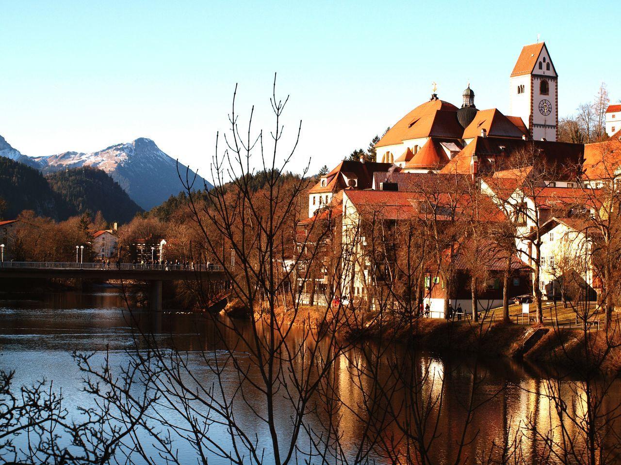 Füssen, Bayern, Deutschland Bavarian Landscape Bavarian Nature Water Mountain